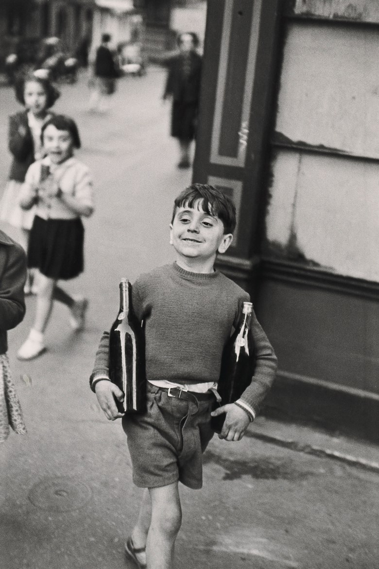 Henri Cartier-Bresson (1908-2004), Rue Mouffetard, Paris, 1954. Imagesheet 50.3 x 40  cm (19¾ x 15¾  in). Estimate €15,000-20,000. Offered in Photographies on 5 November 2019 at Christie's in Paris