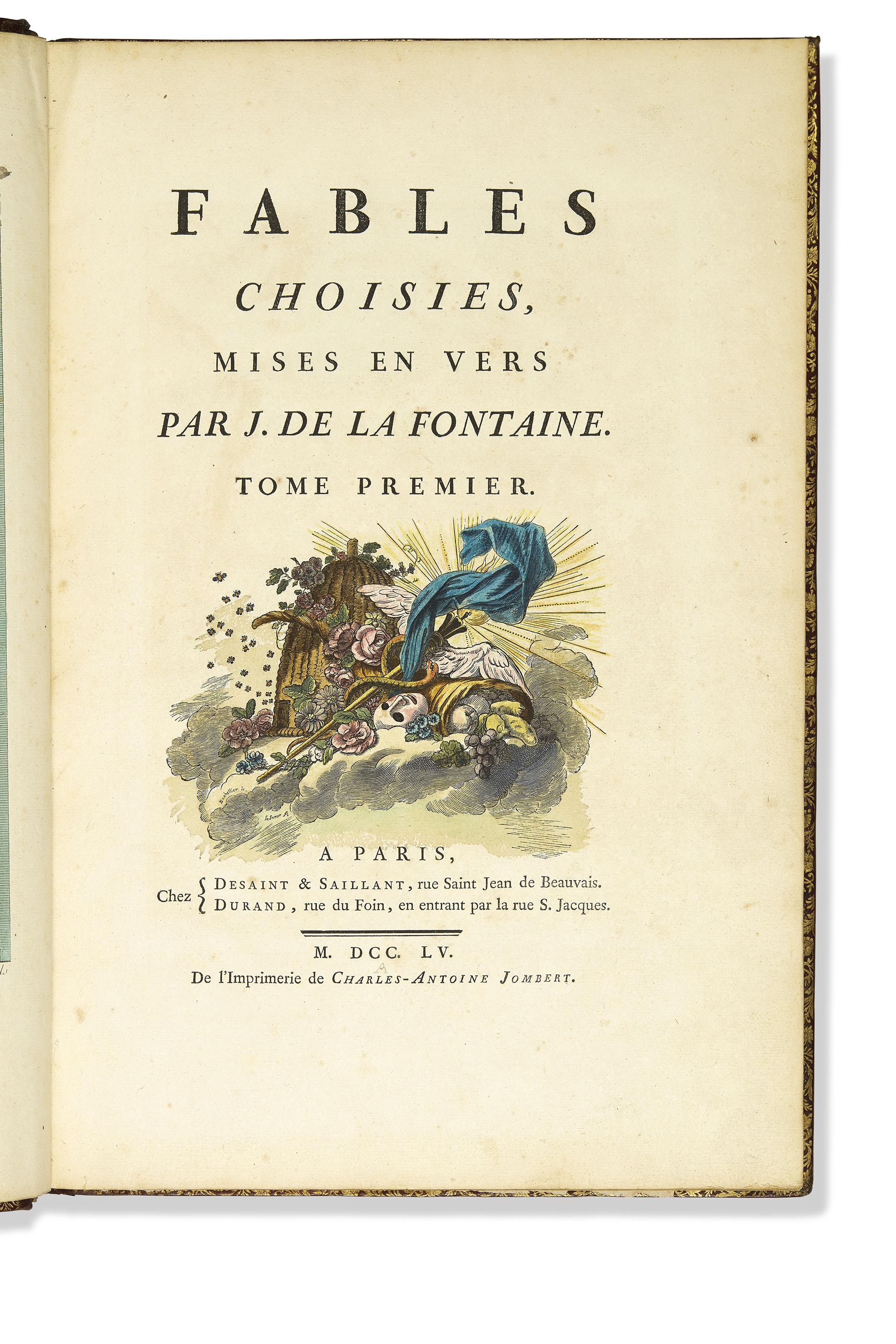 LA FONTAINE, Jean de (1621-1695). Fables choisies, mises ...