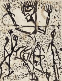 Noël du réprouvé, um 1937 (recto)/Plusieures personnages, um 1937 (verso)