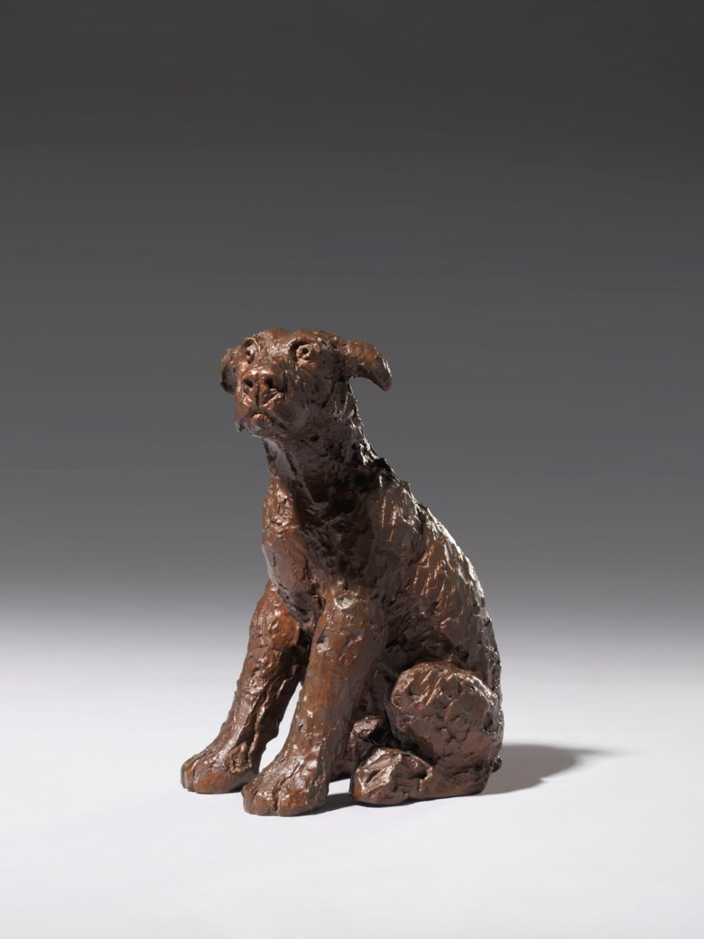 Dame Elisabeth Frink, R.A. (1930-1993), Study for Leonardo's Dog, conceived and cast in 1991. Bronze with a dark brown patina. 9 in (22.9  cm) high. Estimate £50,000-80,000. Offered in Modern British Art Day Sale on 22 January 2020 at Christie's in London