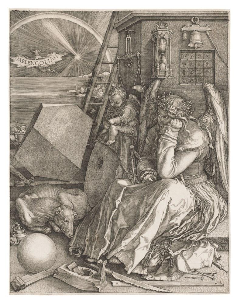 Albrecht Dürer (1471-1528), Melencolia I, 1514. Engraving on laid paper. Plate & sheet 243 x 190 mm. Offered in Old Master Prints, 1-15 July 2020, Online