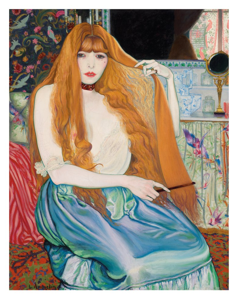 Louis Anquetin (1861-1932), Femme à sa toilette, painted in 1889. Oil on canvas. 36¼ x 28¾  in (92 x 73  cm). Sold for £1,331,250 on 5 February 2020 at Christie's in London