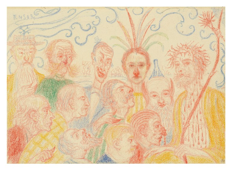 James Ensor (1860-1949), Scènes de la Vie du Christ. The complete set of 32 drawings executed between 1910-1915. Coloured pencil and wax crayon on paper. Estimate £800,000-1,200,000. Offered in The Art of the Surreal Evening Sale on 5 February 2020 at Christie's in London