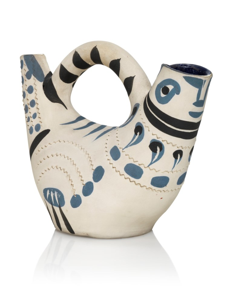Pablo Picasso (1881-1973), Pichet espagnol (A.R. 245), conceived in 1954 and executed in a numbered edition of 200. Length 9¾ in (24.8 cm). Estimate £6,000-8,000. Offered in Picasso Ceramics, 3-17 September 2020, Online