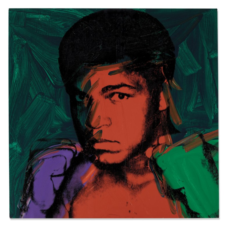 Andy Warhol (1928-1987), Muhammad Ali, 1977. 40 x 40 in (101.6 x 101.6 cm). Sold for £4,973,250 on 12 February 2020 at Christie's in London