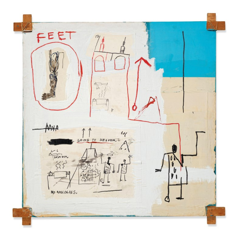 Jean-Michel Basquiat (1960-1988), The Mosque, 1982. 60 x 60 in (152.5 x 152.5 cm). Sold for £3,951,729 on 12 February 2020 at Christie's in London