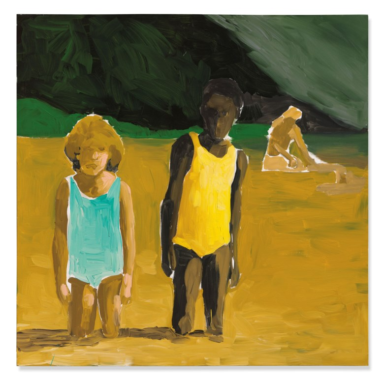 Henry Taylor (b. 1958), She might have loved those summer days but later she cried out!, 2016. Acrylic on canvas. 71⅞ x 71⅞ in (182.7 x 182.7 cm). Estimate £120,000-180,000. Offered in Post-War and Contemporary Art Evening Sale on 12 February 2020 at Christie's in London