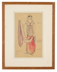 The Doctors's Dilemma - Design for Miss Lilah McCarthy (i); Design for a curtain scene 'Androcles and the Lion' by George Bernard Shaw (ii)