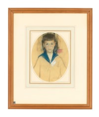 Portrait of Albert Rothenstein (i); Bertha Rothenstein (ii); Portrait of a Man (iii); Sold together with an English School drawing of Alice and John Rothenstein (iv)