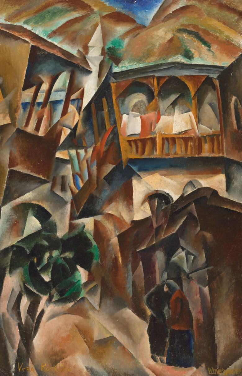 Vera Rockline (1896-1934), Vue de Tiflis, 1919. Oil on canvas. 30 x 19½in (76.2 x 49.5 cm). Estimate £200,000-300,000. Offered in  Russian Art, 1-21 July 2020, Online