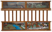 Four side-panels from a child's bed