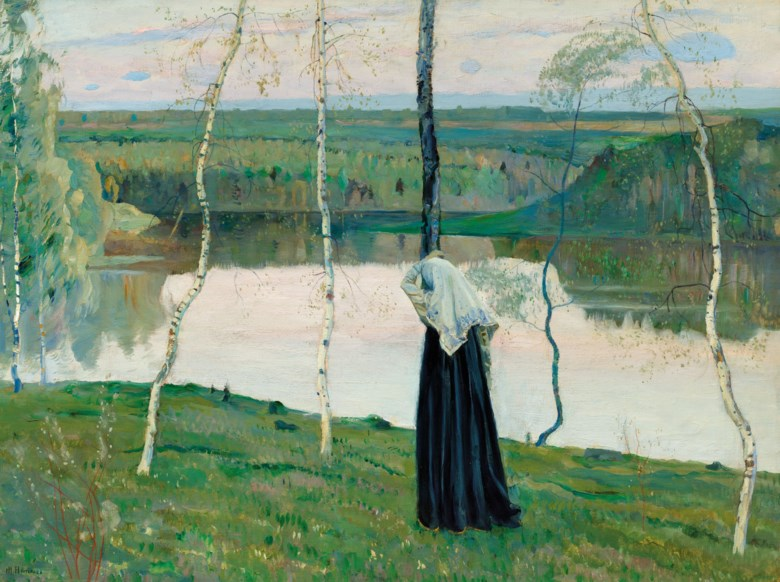 Mikhail Nesterov (1862-1942), Sacred Lake. Oil on canvas, 27½ x 38 in (69.8 x 96.5 cm). Estimate £200,000-300,000. Offered in Russian Art on 23 November 2020 at Christie's in London