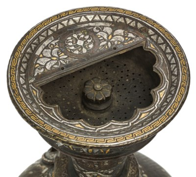 A MAMLUK SILVER, GOLD AND BLAC