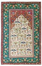 A SILK CAUCASIAN EMBROIDERED P