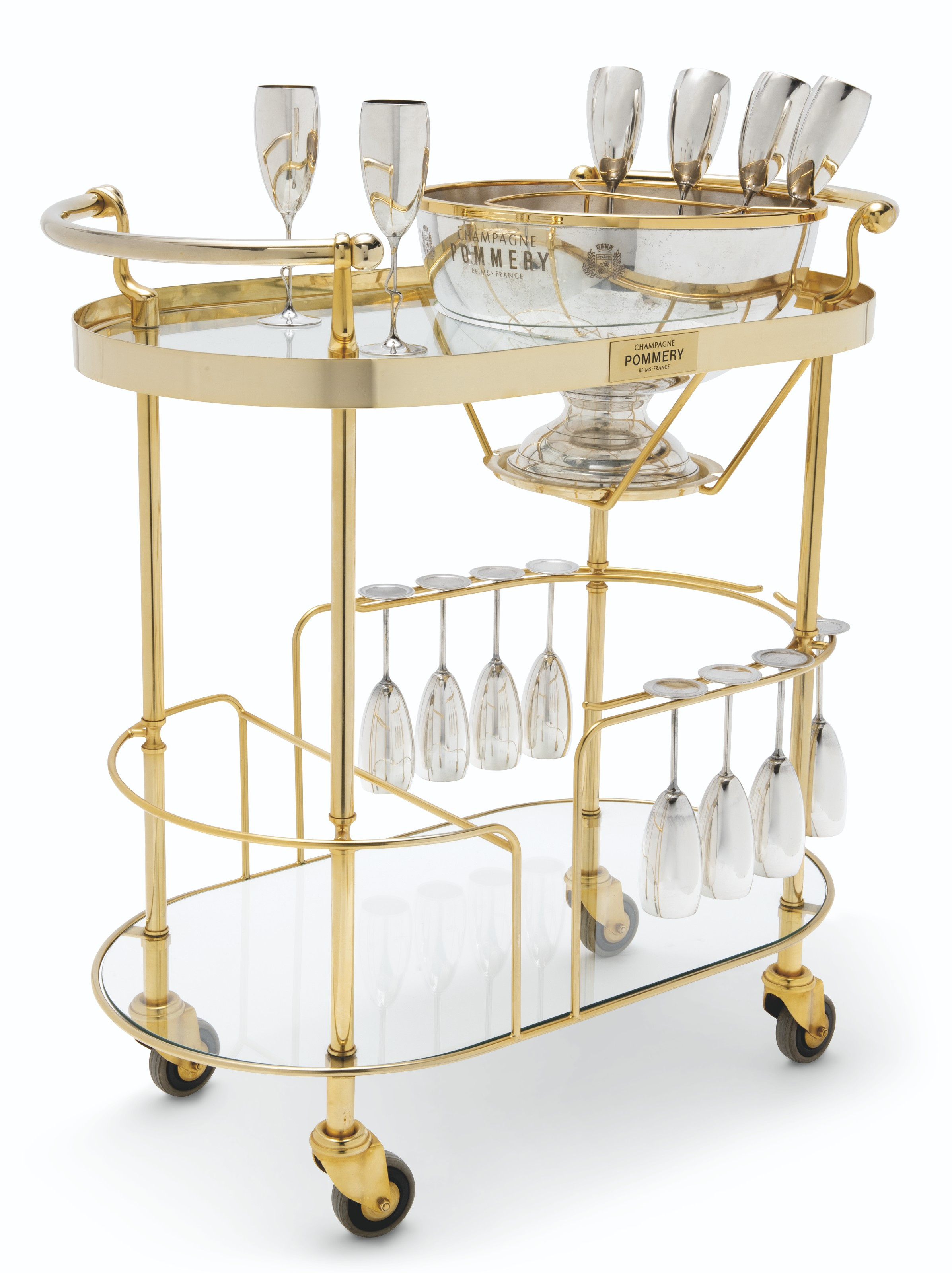 A French Art Deco Style Champagne Trolley Or Bar Cart Late 20th Century Christie S