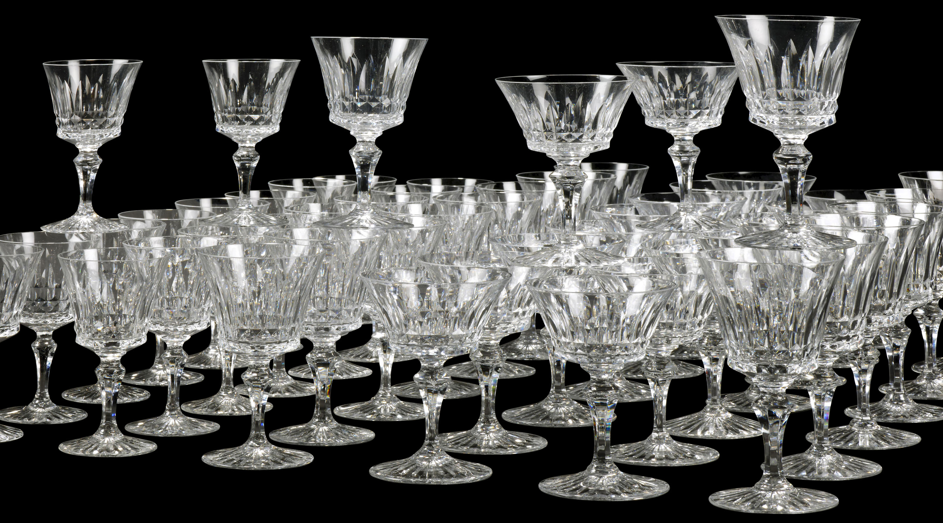 A Baccarat Buckingham Pattern Cut Glass Part Table Service 20th Century Acid Etched Factory Marks Christie S