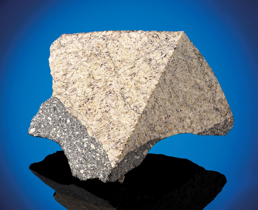 NWA 11616 MOON ROCK WITH FUSION CRUST — UNUSUAL POLYMICT BRECCIA WITH RARE LUNAR MARE COMPONENT