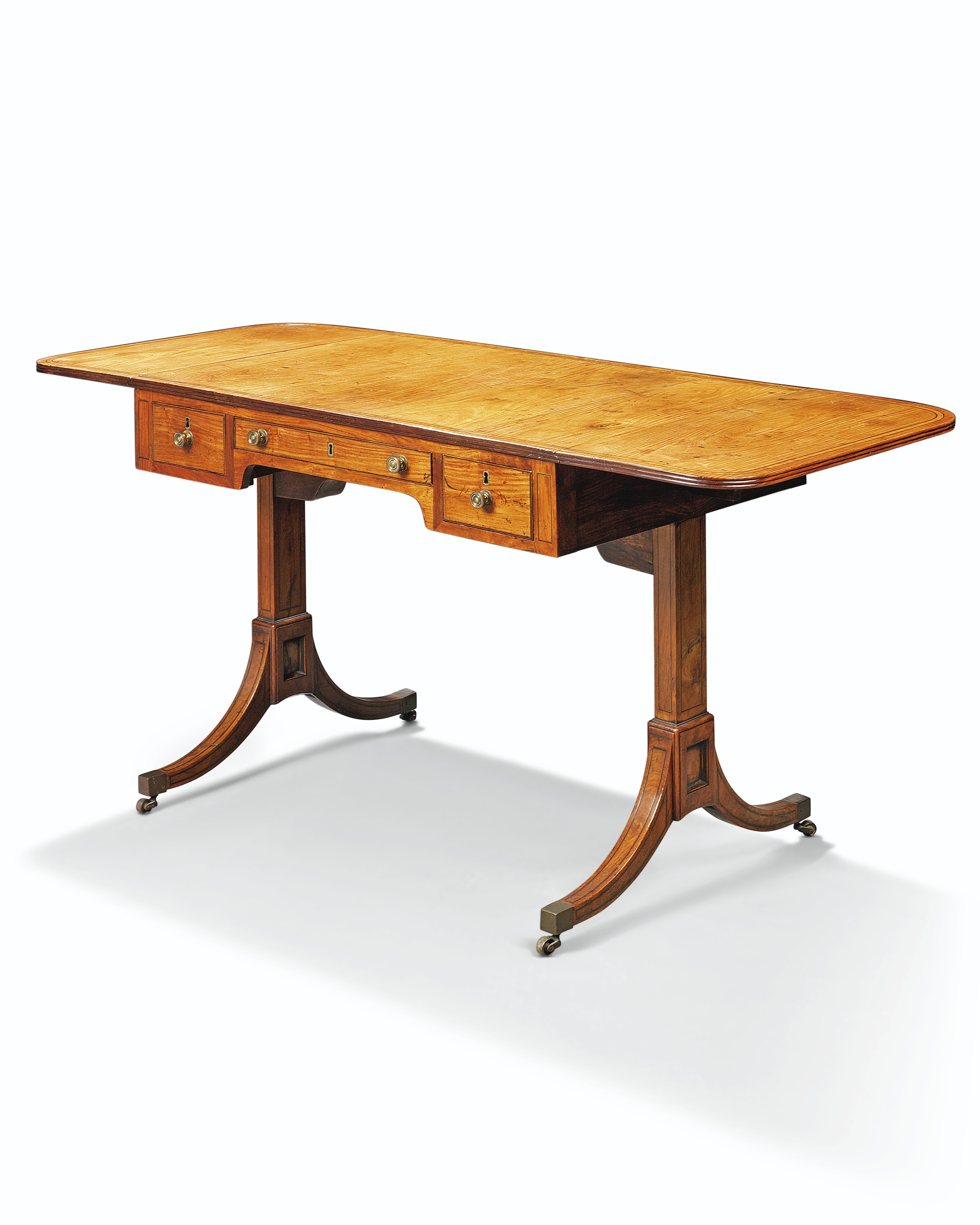 A Chinese Export Rosewood Sofa Table