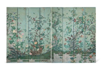 A CHINOISERIE POLYCHROME-PAINT