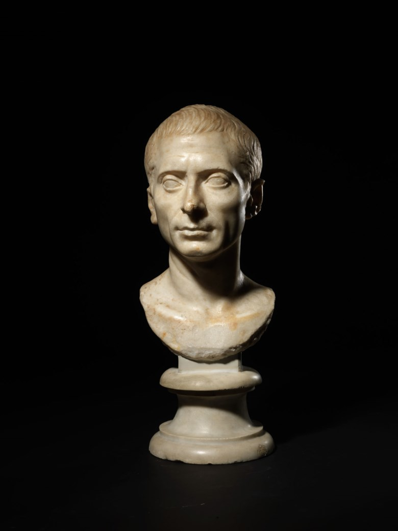A Roman marble portrait bust of a man, Late Republican, circa 1st century BC. 15⅜ in (39.1 cm) high. Sold for £200,000 on 27 July 2020, Online