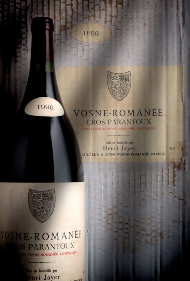 Henri Jayer, Vosne Romanée 1er Cru Cros Parantoux 1996, 6 magnums. Estimate £140,000-160,000. Offered in Finest and Rarest Wines and Spirits, Featuring a Connoisseur's Superlative Burgundy Collection on 28 July at Christie's in London
