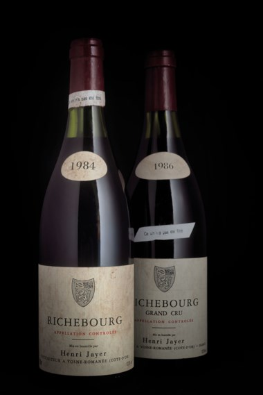 Henri Jayer, Richebourg 1984, 1 bottle per lot. Estimate £8,000-12,000. Offered in Finest and Rarest Wines and Spirits, Featuring a Connoisseurs Superlative Burgundy Collection on 28 July 2020 at Christie's in London
