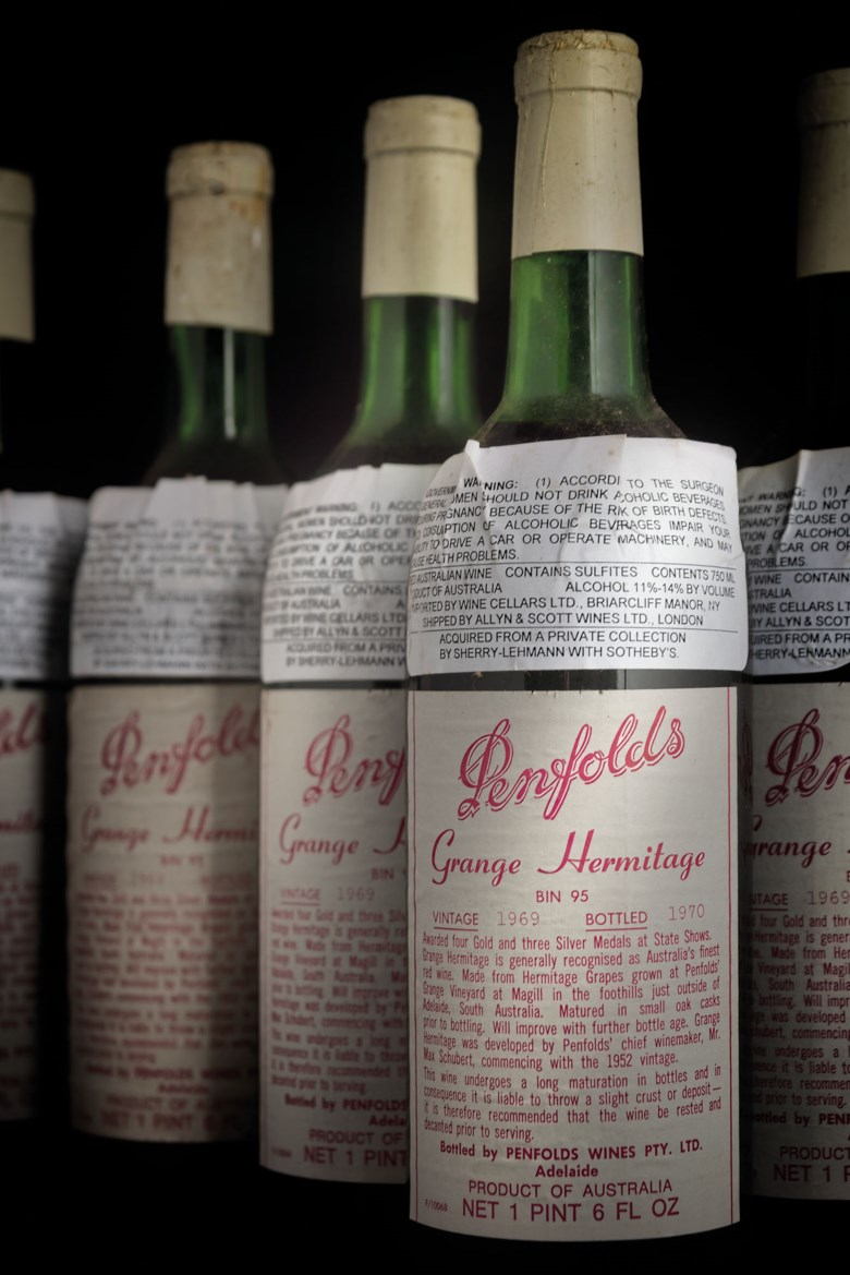 Penfolds, Grange Hermitage 1969, 12 bottles per lot. Sold for £5,512 in Finest and Rarest Wines and Spirits, Featuring a Connoisseurs Superlative Burgundy Collection on 28 July 2020 at Christie's in London