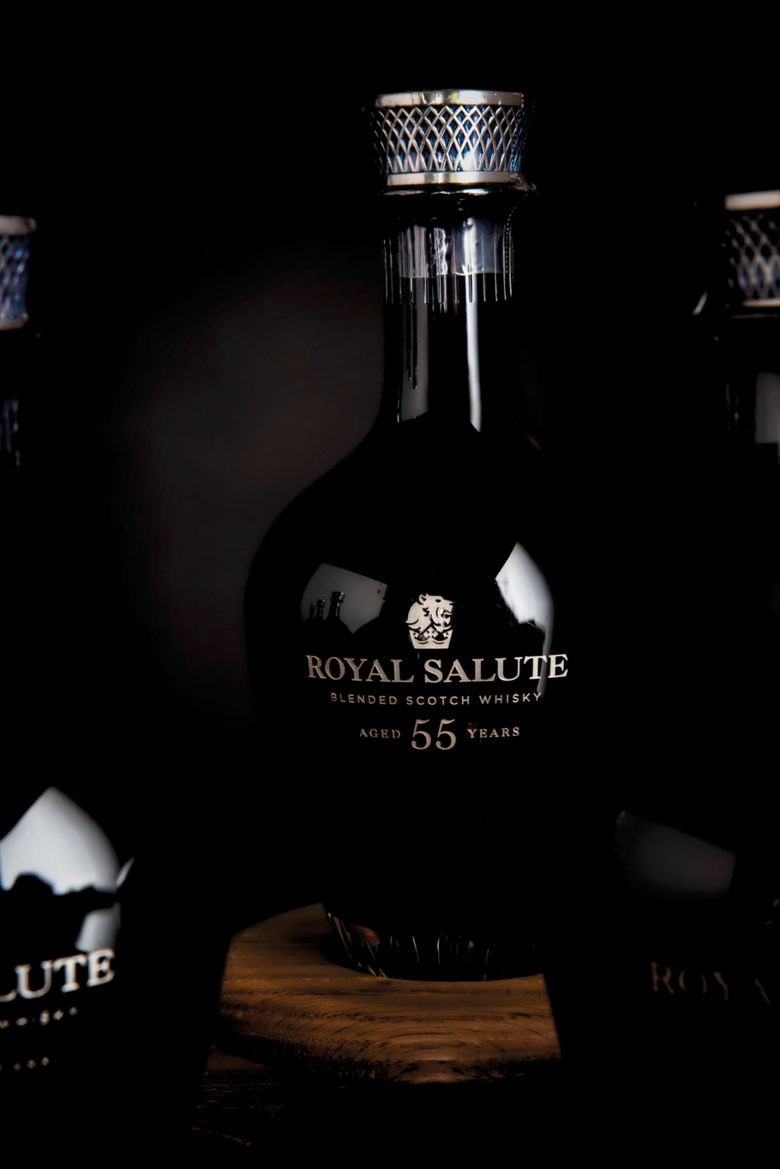 Royal Salute the Age Collection II. 10 crystal decanters per lot. Sold for £55,125 inFinest and Rarest Wines and Spirits, Featuring Three Superb Private Collections on 10-11 December 2020 at Christie's in London