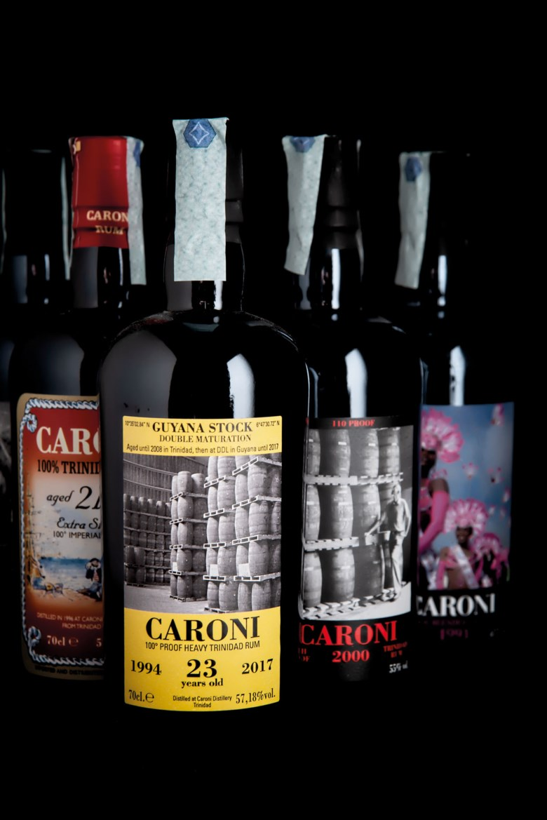Rare Caroni rum 1974-2000. 15 bottles per lot. Offered in Finest and Rarest Wines and Spirits, Featuring Three Superb Private Collections on 10-11 December 2020 at Christie's in London
