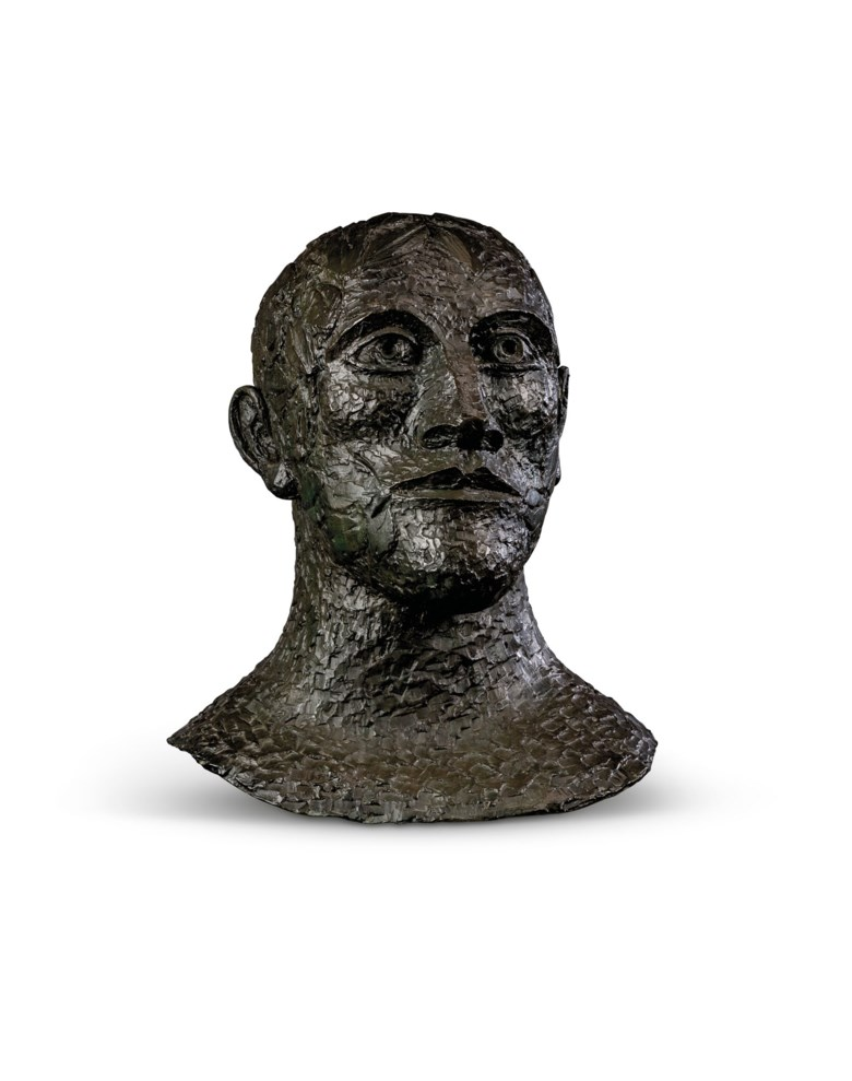 Dame Elisabeth Frink, R.A. (1930-1993), Green Man, conceived in 1991. Bronze with a dark brown and green patina. 22½  in (57.2  cm) high. Estimate £50,000-80,000. Offered in Modern British Art  on 29 September 2020 at Christie's in London