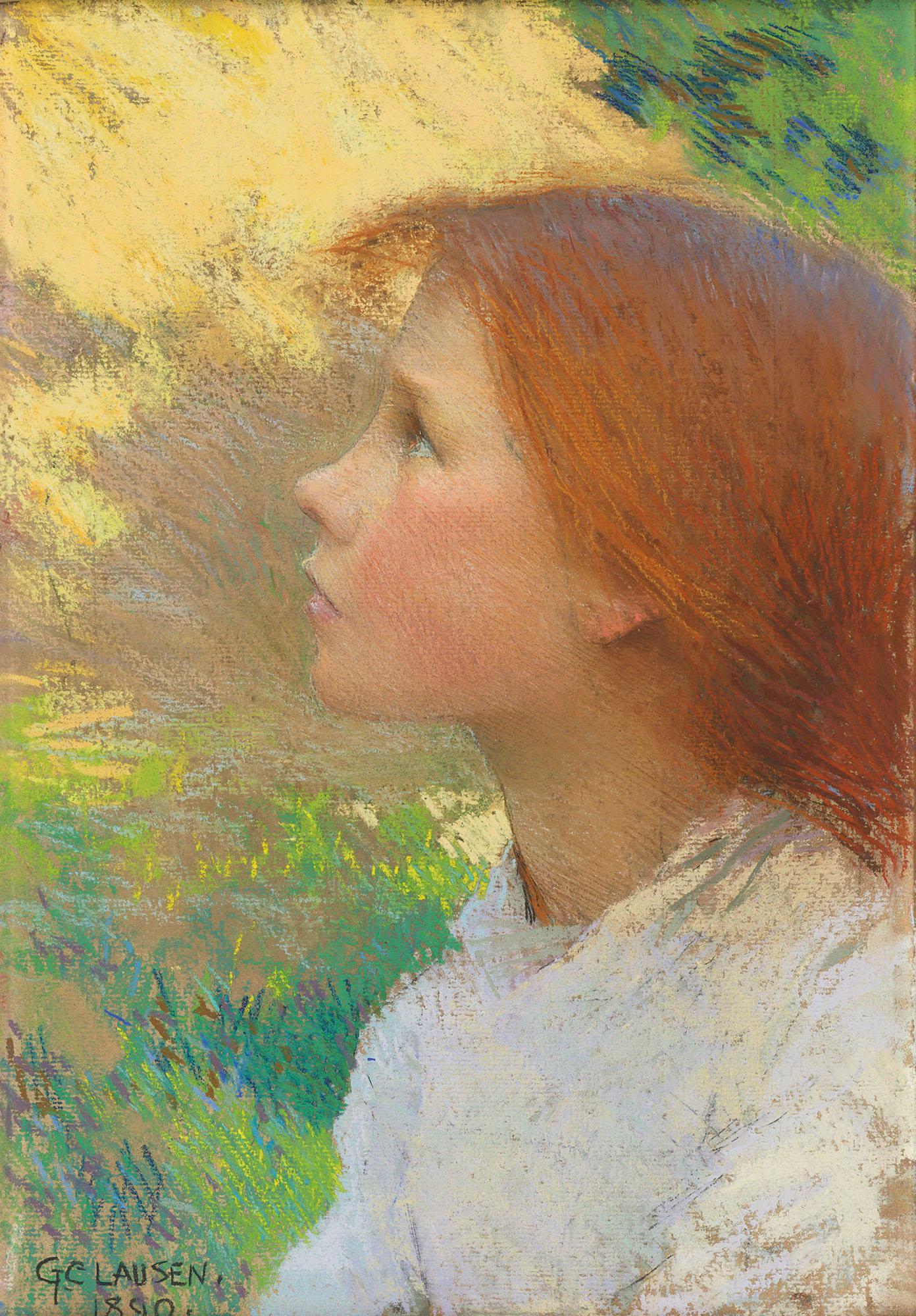 A Girl's Head Art Print by Sir George Clausen | Art.com |Sir George Clausen Head Girls