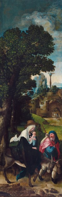 The Flight into Egypt: the wing of a triptych