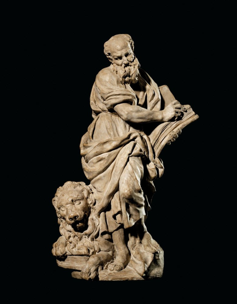 Giuseppe Piamontini (1664-1742), Saint Mark, c. 1693. Terracotta. 18⅞ in (48 cm) high. Offered in the Old Masters Evening Sale on 15 December 2020 at Christie's in London