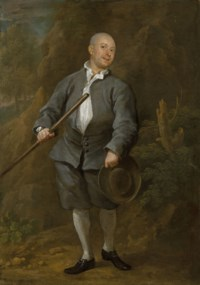 The Pugilist:  A Quarterstaff Player, almost certainly James Figg (1684-1734)