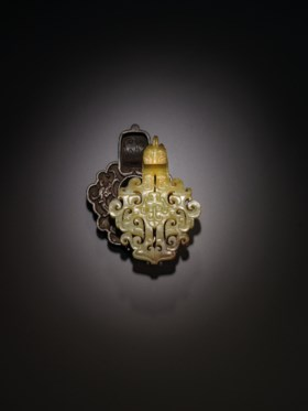 AN EXCEPTIONALLY RARE AND IMPORTANT YELLOW JADE BELT HOOK, D