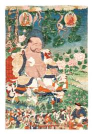 A THANGKA DEPICTING HVASHENG