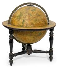 A PAIR OF ENGLISH TABLE GLOBES