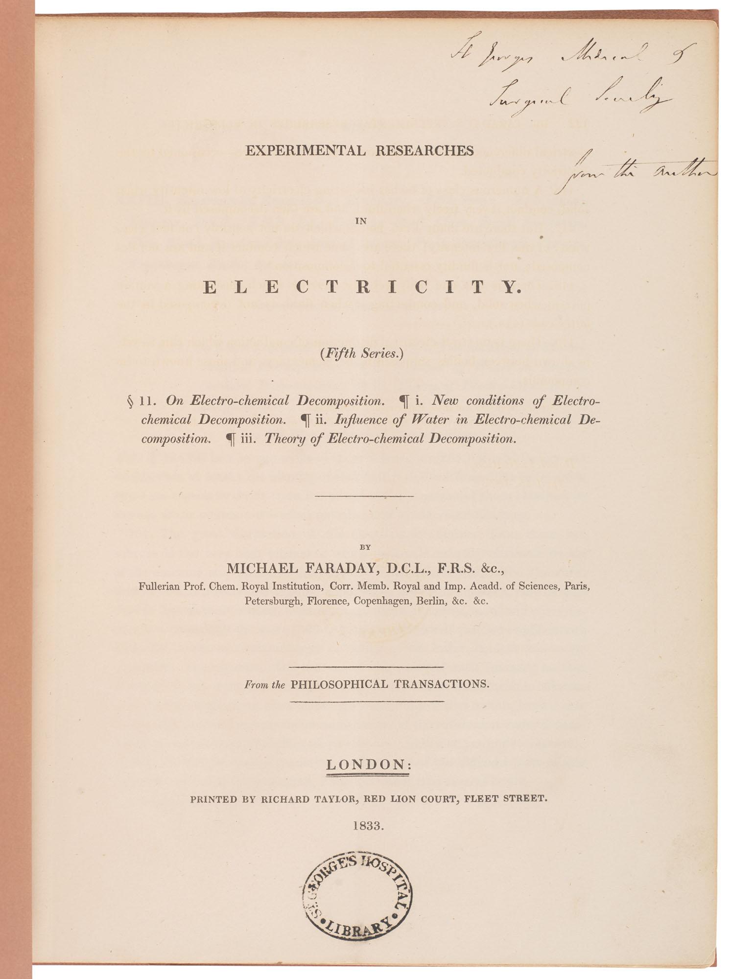 Michael Faraday (1792-1867)