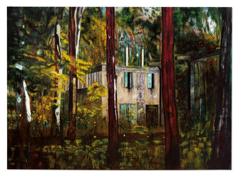 Peter Doig (b. 1959), Boiler House, 1993. Oil on canvas. 78¾ x 108¼ in (200 x 275 cm). Sold for £13,895,500 on 22 October 2020 at Christie's in London. Artwork © Peter Doig, DACS 2020