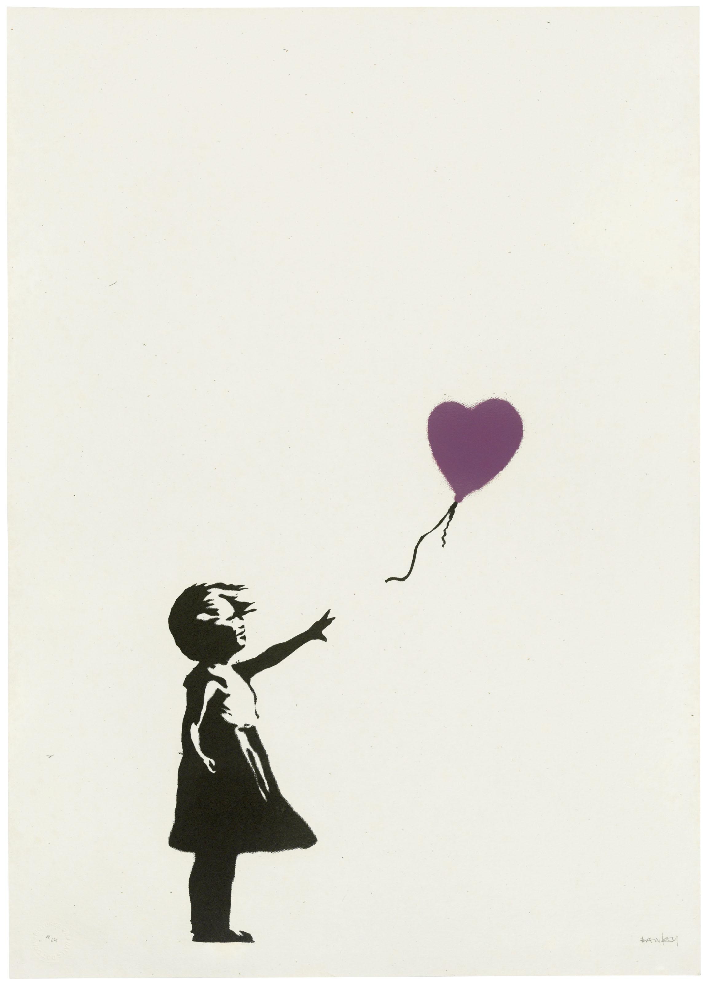 BANKSY (B. 1974), Girl with Balloon - Colour AP (Purple) | Christie's