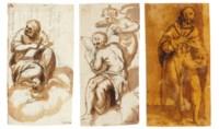 Saint Mark the Evangelist (i); Saint John the Evangelist (ii); and A standing man holding a book (iii)
