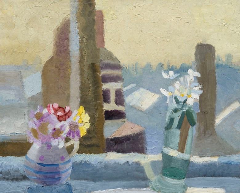 Winifred Nicholson (1893-1981), The Kings Road, 1925. Oil on canvas. 16 x 20  in (41 x 50.8  cm). Estimate £40,000-60,000. Offered in The Delighted Eye Works from the Collection of Allen and Beryl Freer on 23 January 2020 at Christie's in London