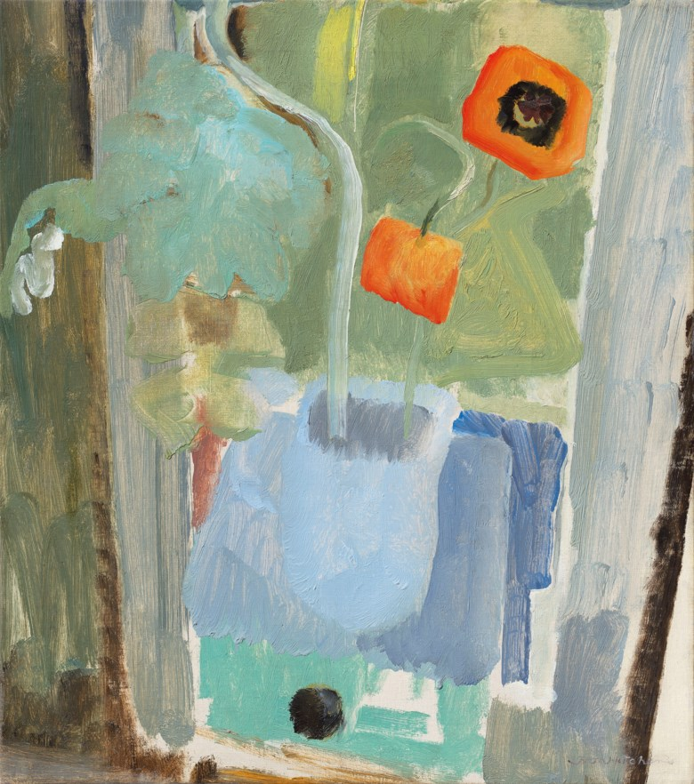 Ivon Hitchens (1893-1979), Two Poppies, painted in 1935. Oil on canvas.24 x 21  in (61 x 53.5  cm). Estimate £60,000-80,000. Offered in The Delighted Eye Works from the Collection of Allen and Beryl Freer on 23 January 2020 at Christie's in London