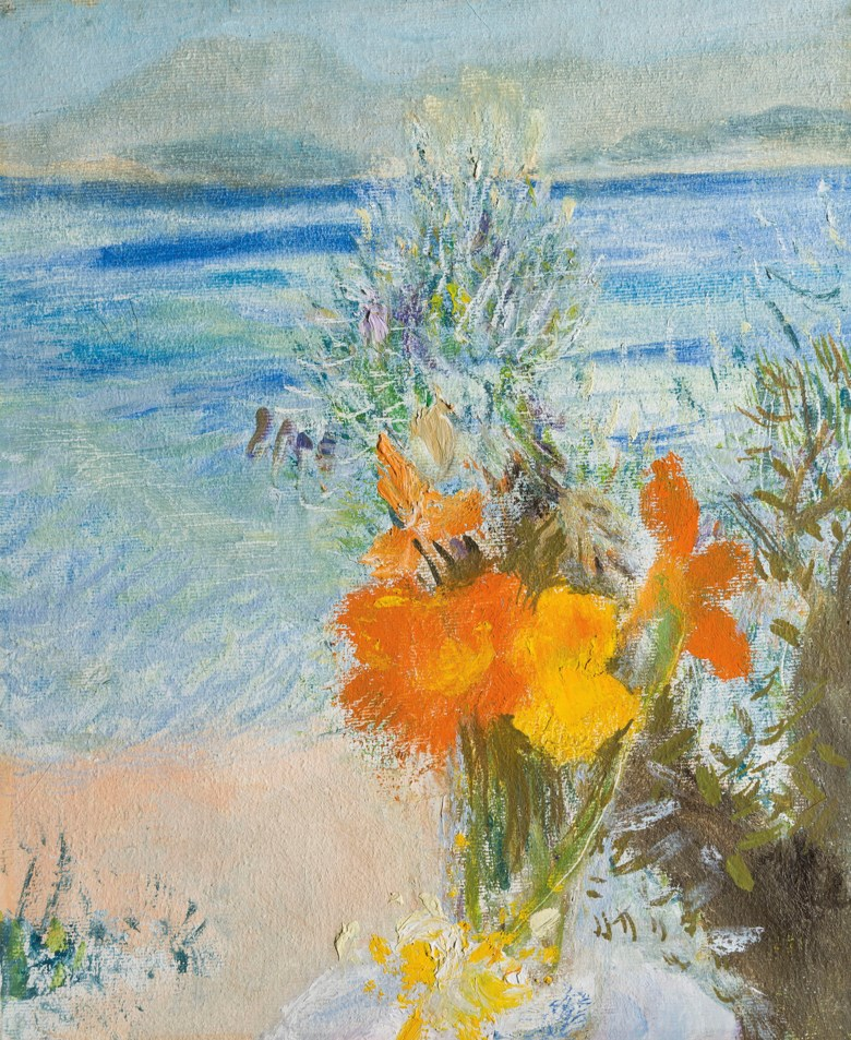 Winifred Nicholson (1893-1981), Zenia, painted in 1979. Oil on canvas. 12 ¼ x 10 ¼  in (31 x 26  cm). Estimate £10,000-15,000. Offered in The Delighted Eye Works from the Collection of Allen and Beryl Freer on 23 January 2020 at Christie's in London