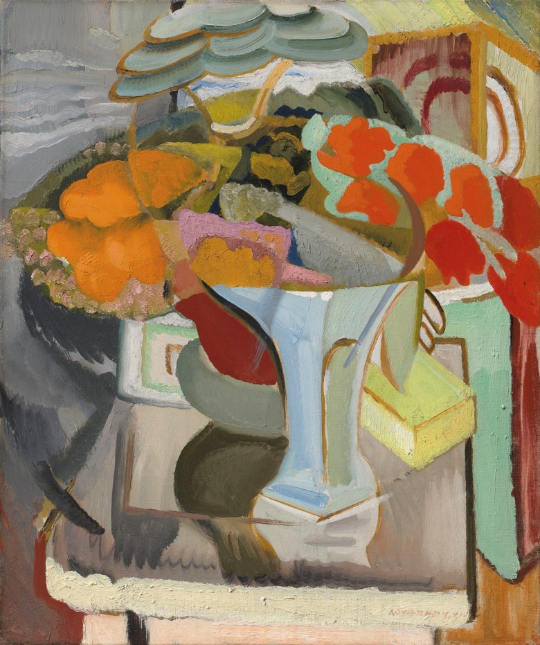 Ivon Hitchens (1893-1979), Still Life with Azaleas, 1931. Oil on canvas. 24 x 20  in (61 x 50.8  cm). Estimate £120,000-180,000. Offered in The Delighted Eye Works from the Collection of Allen and Beryl Freer on 23 January 2020 at Christie's in London