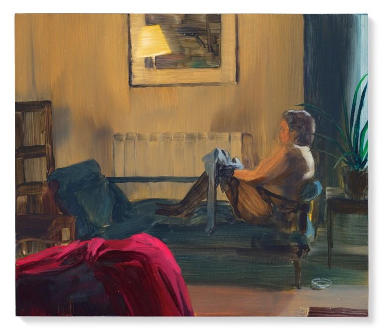 Caroline Walker (b. 1982), St. Pauls Road 5.30pm, 2009. Oil on board. 11¾x 13¾ in (29.9 x 35 cm). Estimate £4,000-6,000. Offered in First Open Post-War & Contemporary Art Online,14-27 October 2020, Online