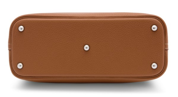A GOLD CLÉMENCE LEATHER BOLIDE 31 WITH PALLADIUM HARDWARE