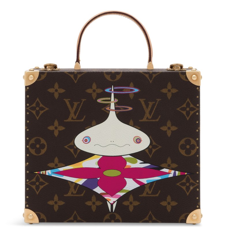 A limited edition classic canvas superflat jewellery box by Takashi Murakami, Louis Vuitton, 2003. 19 w x 16 h x 7 d cm. Estimate £3,000-4,000. Offered in Handbags Online The London Edition, 9-25 June 2020, Online