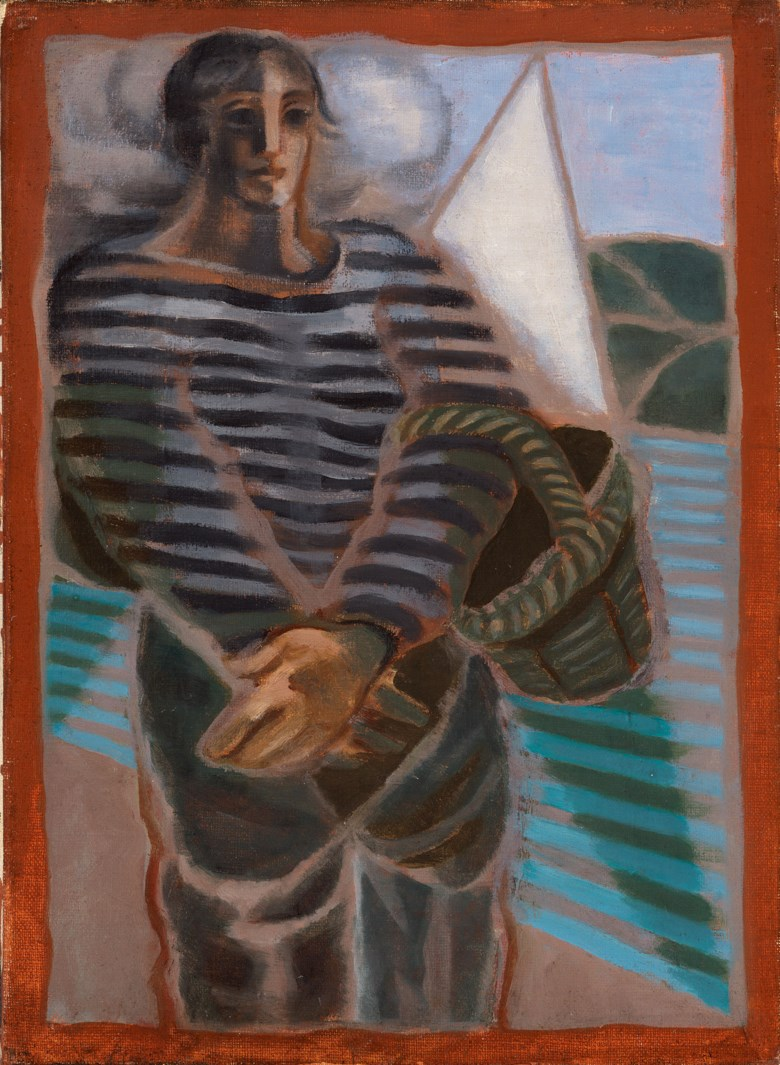 Juan Gris (1887-1927), Le pêcheur, 1924. Oil on canvas. 13 x 9½ in (33 x 24.2 cm). Estimate £40,000-60,000. Offered in Joie de Vivre Modern Art and the Riviera, 30 June to 17 July 2020, Online