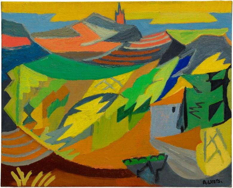 André Lhote (1885-1962), La Cadière , 1957. Oil on canvas. 13 x 16⅛ in (33.1 x 41 cm). Estimate £15,000-25,000. Offered in Joie de Vivre Modern Art and the Riviera, 30 June to 17 July 2020, Online